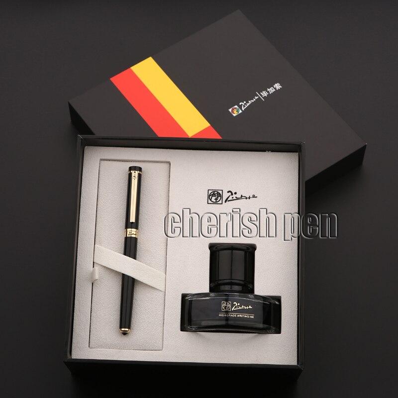 Frete grátis Picasso T908 0.5 Tinta de Alta-grade Negócio irídio  caneta Metal Marca Presente Caligrafia Fountain Pen Atacado 1b48ec13bf