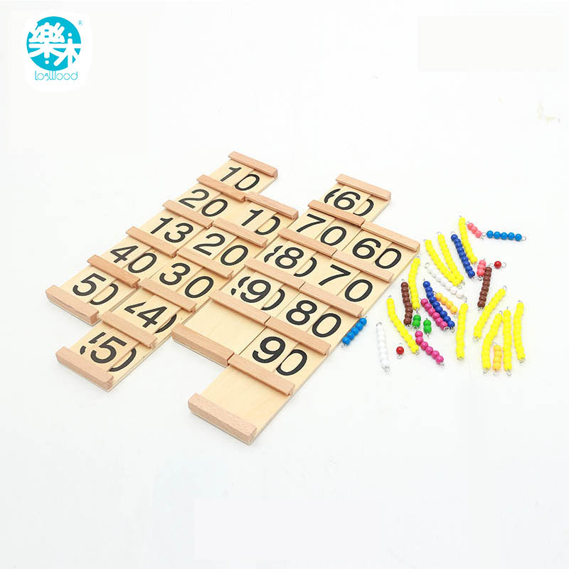 Montessori teaching aids in Seguin Wooden Toys For Children Teens and Tens Boards Early Childhood Preschool Training Family спицы прямые алюминиевые с покрытием 35см 2 0мм 940220 940202