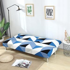 Image 4 - גידמת ספה כיסוי למתוח יהלומי הדפסת ספת מיטת כיסוי ספה ספנדקס ספה מכסה ללא משענות אלסטי ספה כיסוי 1PC