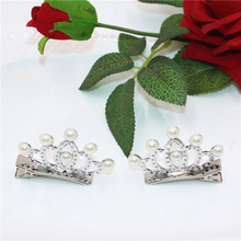 2Pes/lot Cute Mini Crown Shiny Rhinestone Barrettes Little Princess Hairpins Ornaments Hairclip Hair Accessories For Girls