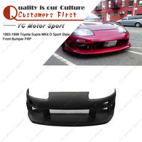 Car Accessories FRP Fiber Glass D Sport Style Front Bumper Fit For 1993 1998 Toyota Supra MK4 Front Bumper Cover