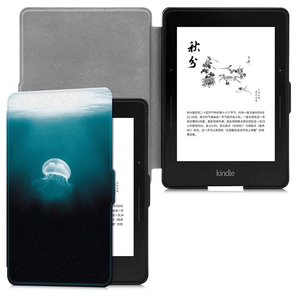 BOZHUORUI housse pour 6 pouces Amazon Kindle Voyage (2014) E-book avec sommeil automatique/réveil mode Ultra-mince peint Smart Case