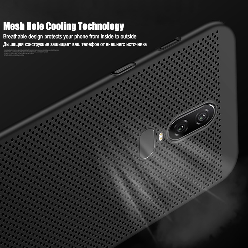 Hollow Ultra Thin <font><b>Case</b></font> For <font><b>Oneplus</b></font> 5 5T 6 <font><b>6T</b></font> Heat Dissipation Protective Capas Back Cover One Plus <font><b>6T</b></font> 6 5T 5 <font><b>Bumper</b></font> Housing image