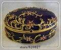 Classic Jewelry Box Crystals Keepsake Box Oval Shaped Trinket Jewelry Box Multi-Color Jeweled Wedding Ring Holding Gift Box