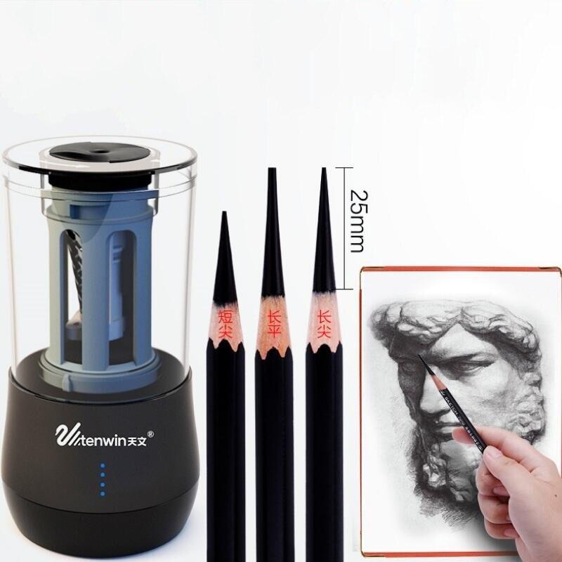 Dix-WIN nouveau taille-crayon électrique double usage multifonction automatique Art apprentissage croquis taille-crayon électronique