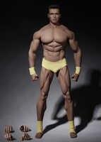 PL2016-M34 1/6 di Sesso Maschile Super-Flessibile Forte Muscolare Senza Soluzione di Continuità Figura Del Corpo In Acciaio Inox in Crema di Colore Figura Modello Del Corpo