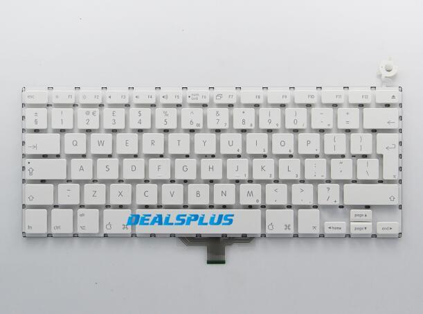 A1181 A185 Великобритания Клавиатура для ноутбука Apple Macbook A1181 A1185 английская клавиатура белый Цвет