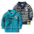 Nueva 2014 otoño niños hoodies del bebé y ropa niños bebé niño suéter superior ocasional camiseta fresca hijo