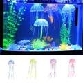 Silicone Mini Size Jellyfish Style Swim Glowing Effect Fish Tank Aquarium Decoration Accessories 4 Color 1PCS