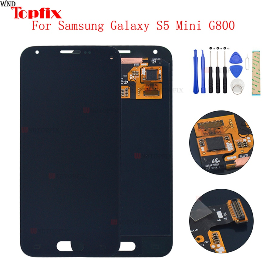 LCD <font><b>Display</b></font> Touch Screen Digitizer For <font><b>Samsung</b></font> Galaxy S5 Mini G800 <font><b>G800F</b></font> G800A G800HQ G800H G800Y LCD Assembly Replacement Parts image