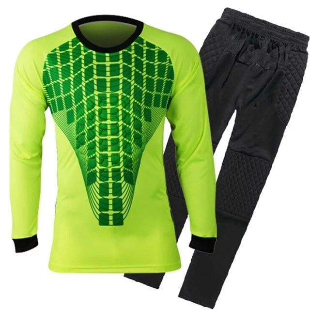 Vigilancia fútbol corta Fútbol portero Jersey set rápido seco portero  uniforme manga larga portero del Equipo c69f269e67f28