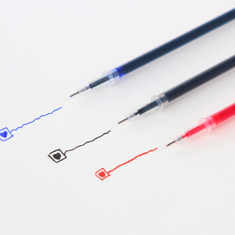 10PCS 0.38mm <font><b>0.5mm</b></font> Gel Ink <font><b>Ballpoint</b></font> <font><b>Pen</b></font> <font><b>Refill</b></font> Black Blue Red Stationery Supply image