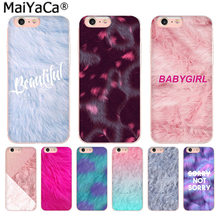 MaiYaCa Pink fur pattern Newest Fashion Luxury phone case for iphone 11 pro 8 7 66S Plus X 10 5S SE XR XS XS MAX(China)