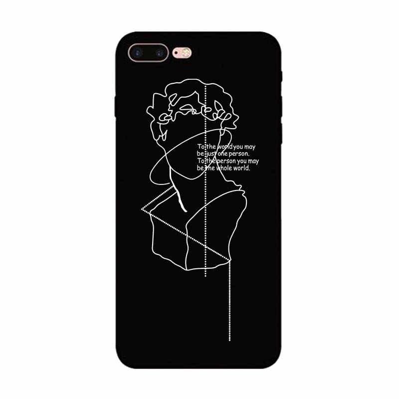 Чехол для телефона с принтом лица Lover чехол для iPhone 6 6 S 5 S SE 7 8 Plus Мягкий силиконовый чехол для iPhone 7 XS Max XR задняя крышка Fundas