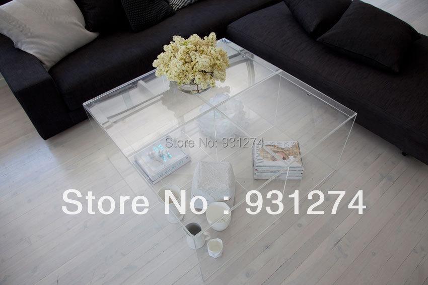Moderne Acryl Couchtisch Lounge Wohnzimmer Tisch Plexiglas Beistelltisch Mbel