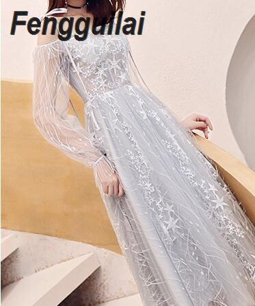 Dream Sequined Maxi Dresses Off The Shoulder Slash Neck Party Dresses Elegant Maxi Dress Sequined Dress