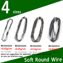 цена SS S M L Size Soft Round Fly Tying Lead Wire Nymph Body Weight Thread Streamer Weight Line Saltwater Fly Tying Material онлайн в 2017 году