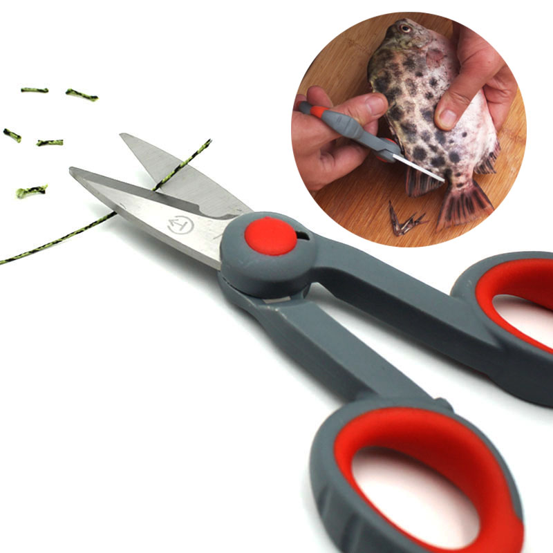 Stainless Steel Scissor For Fishing Scissor Portable Fishing Plier Cut PE Line Braid Line Lure Cutter Plies Carp Fishing Tools