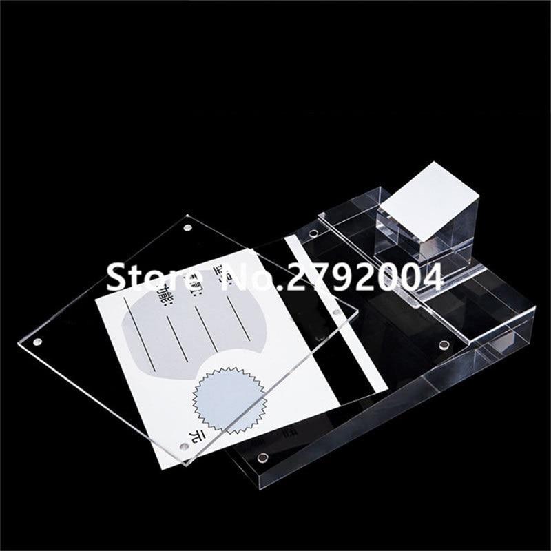 10 pcs lote alta qualidade acrilico display stand titular para celular 14 19 cm