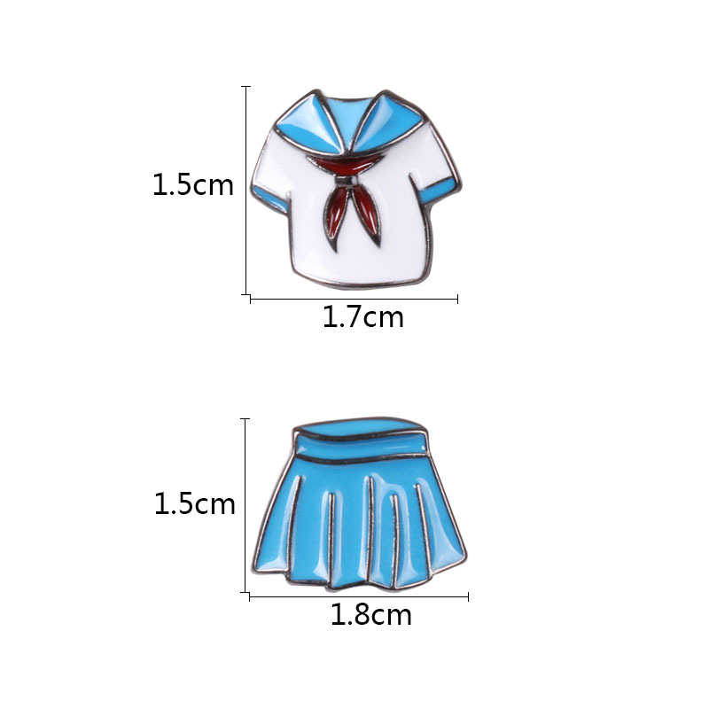Phong Cách nhật bản Đồng Phục Học Sinh Váy Thiết Huy Hiệu Brooch Men Pins cho Cô Gái Áo Áo Sơ Mi Áo Len Khăn Quần Túi