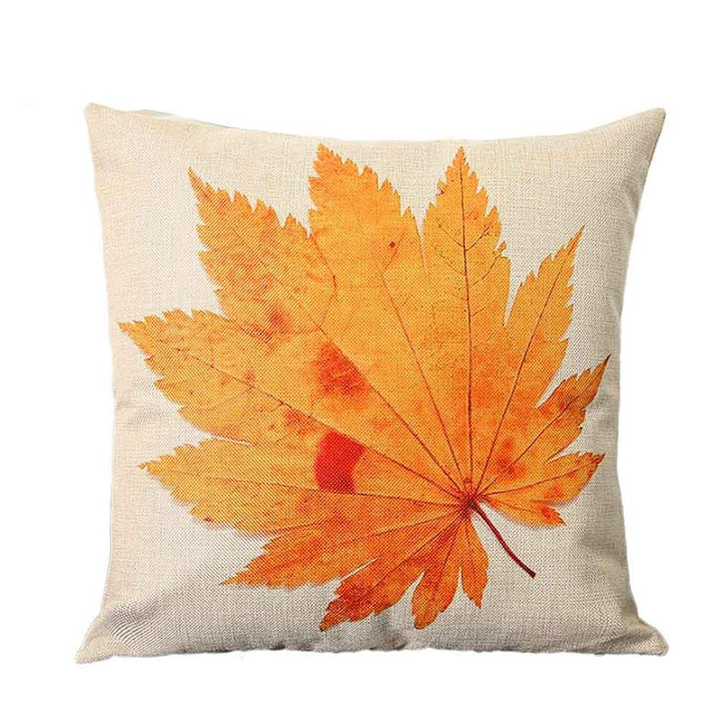 Practical Boutique Autumn Maple Leaf Printed Sofa Bed Home Decoration Festival Pillow Case Cushion Cover