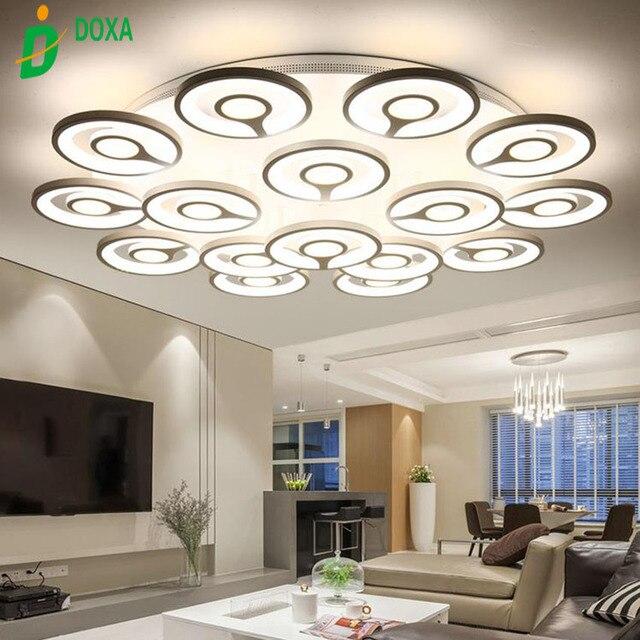 US $111.0 40% OFF|Hot Moderne FÜHRTE deckenleuchten design leuchten für  wohnzimmer esszimmer lampe kunst deco licht mit material Acryl lampenschirm  ...