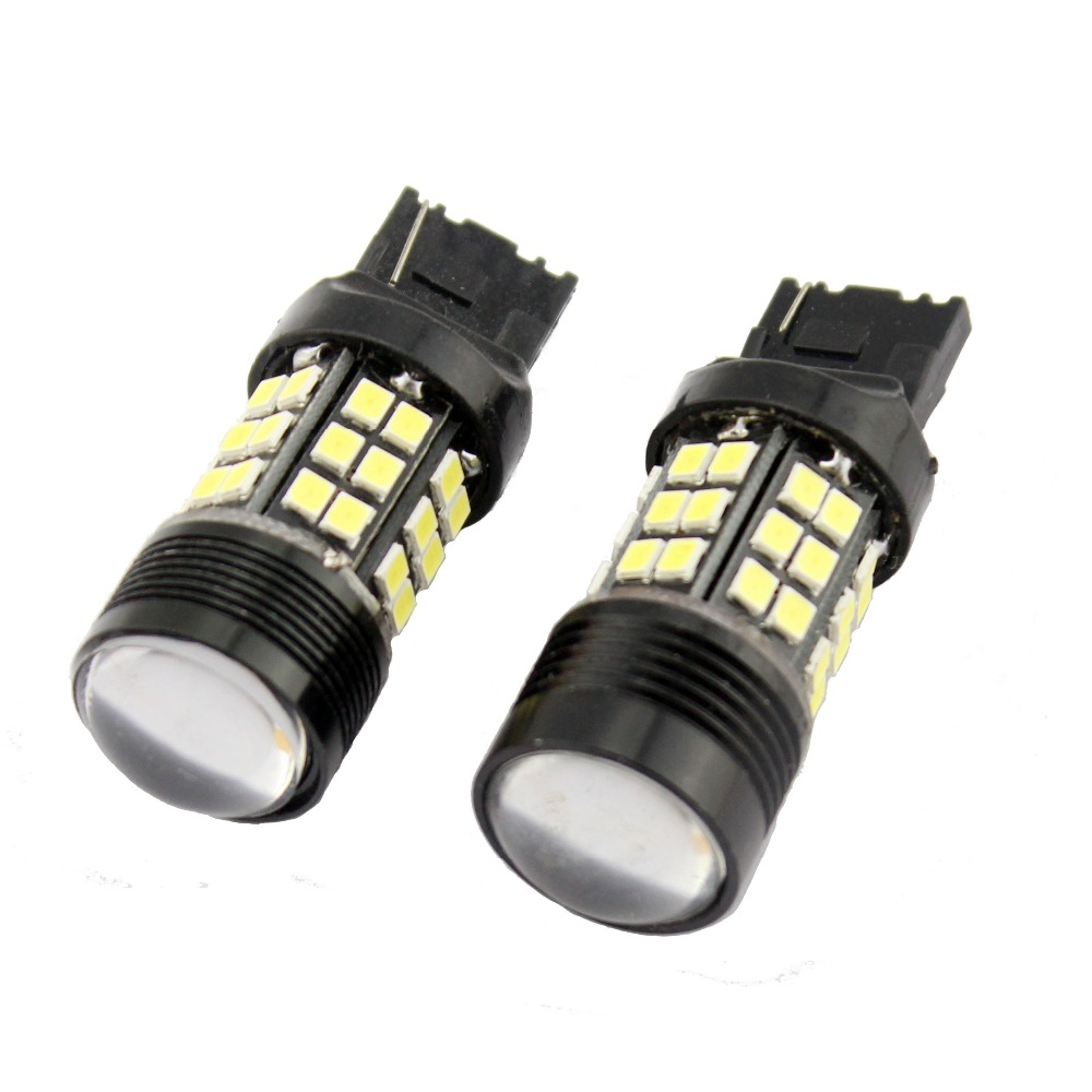 2pcs T20 7443 W21/5W 36 SMD 2835 5630 5730 LED Auto Brake Lights 21/5w Car DRL Driving Lamp Stop Bulb Turn Signals White