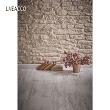 Laeacco Art Flowers Books Stone Wall Wooden Flooring Photography Backgrounds Customized Photographic Backdrops For Photo Studio