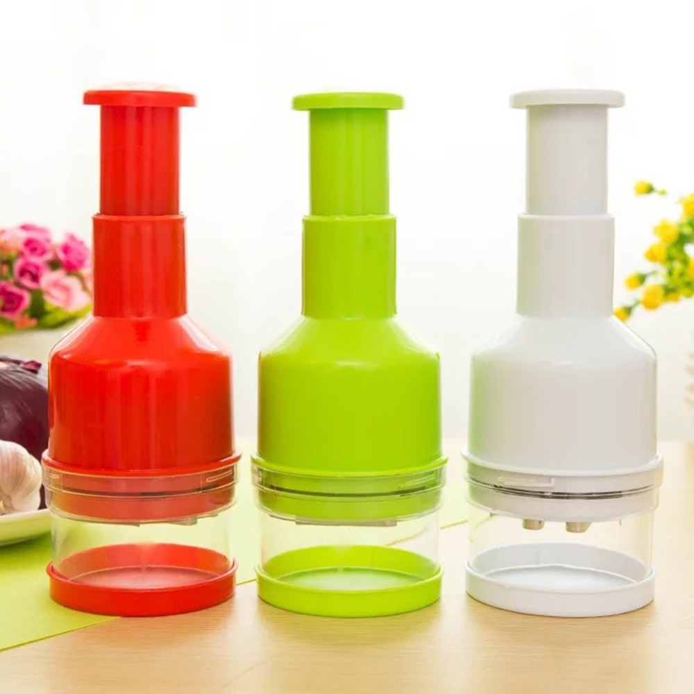 kitchen Appliance Hand pressing onion Random Color Kitchen supplies Onion chopping slicer Labor saving Avoid tears Random Color