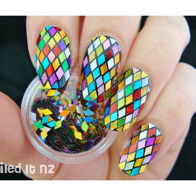 Mixed Diamond Nail Sequins Tips Decoration