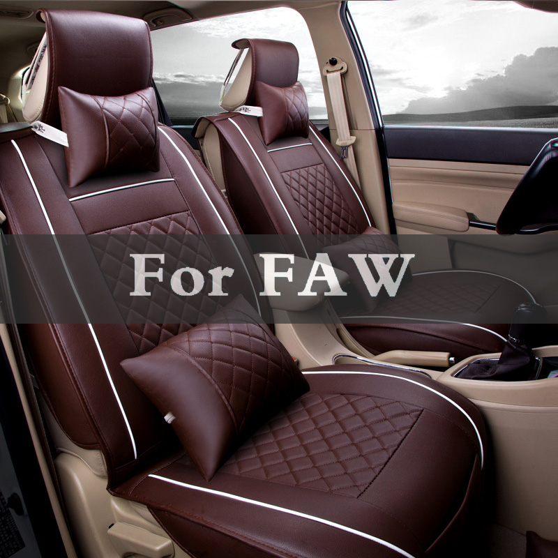 Car Styling Four Seasons Leather Pad Seat Cushion Car Front Back Seat Cover For Faw Besturn Jinn V2 V5 Oley Vita B50 X80 B70