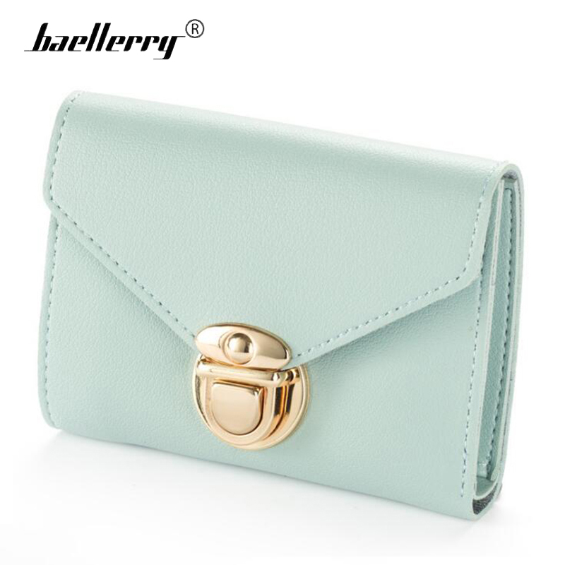 Baellerry Women Wallet Small Leather Wallets Purses 2017 Wallet Female Famous Brand Mini Short Hasp Card Holder Thin Clutches korean style famous brand designer women short wallet faux suede leather coin bag card holder lady day clutches purses&wallets