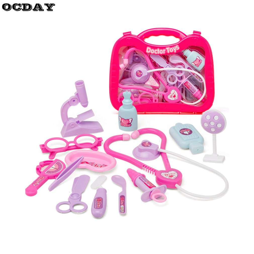 Electronic, Battery & Wind-up Pretend Play Tools Highly Polished Medical Box Pink Doctor Nurse Medical Kit Playset For Kids Toys & Hobbies