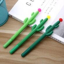 36 pz/lotto 0.5mm Cactus penna a inchiostro nero Sveglio di plastica gel penna Kawaii cancelleria penna neutra escolar scuola di forniture per ufficio