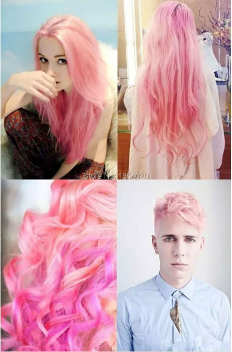 2017 Fashion Ladies & Mens Beauty Hair Care Permanent Light Pink Hair Dyed Frost Sunflower Wind Hair Color Sharon Hair Dyeing