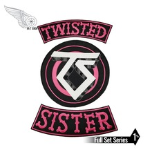 TWISTED SISTER Biker Motorcycle Rider Embroidered Iron On Back of Jacket Patch Black twill fabric DIY Eco-Friendly Free Shipping new arrival warlocks motorcycle patch 1% biker rider vest mc embroidered iron on back of jacket patch diy g0434 free shipping