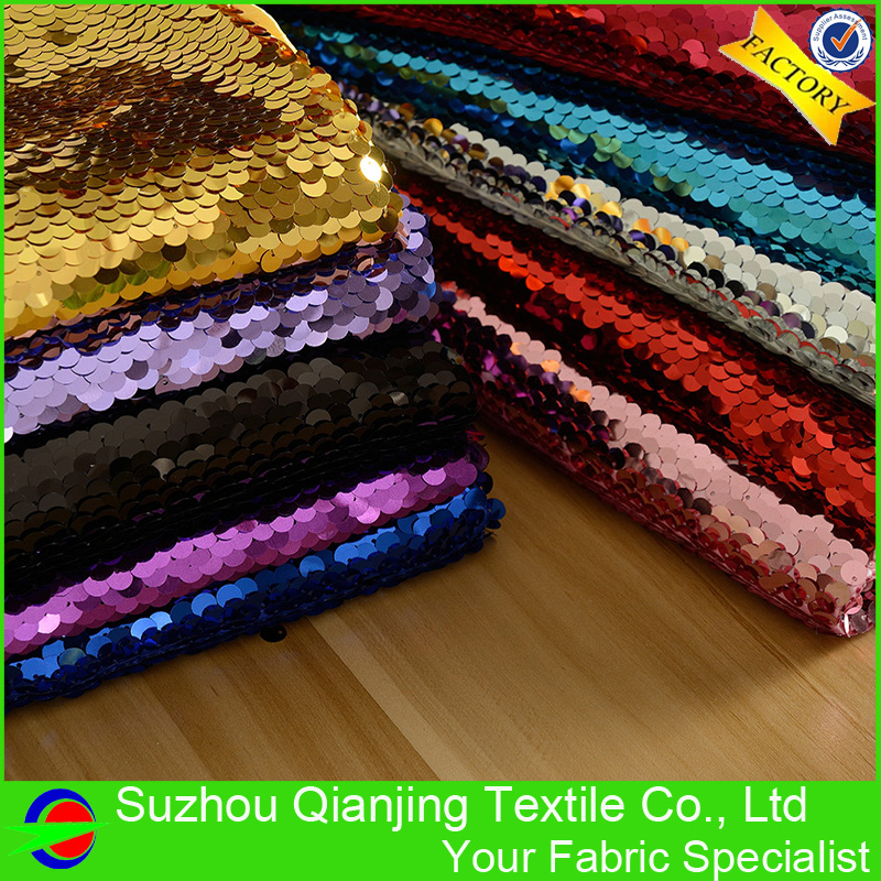 2017 High Ends 11 Colors Fashionable 9mm Large Sequin Fabric