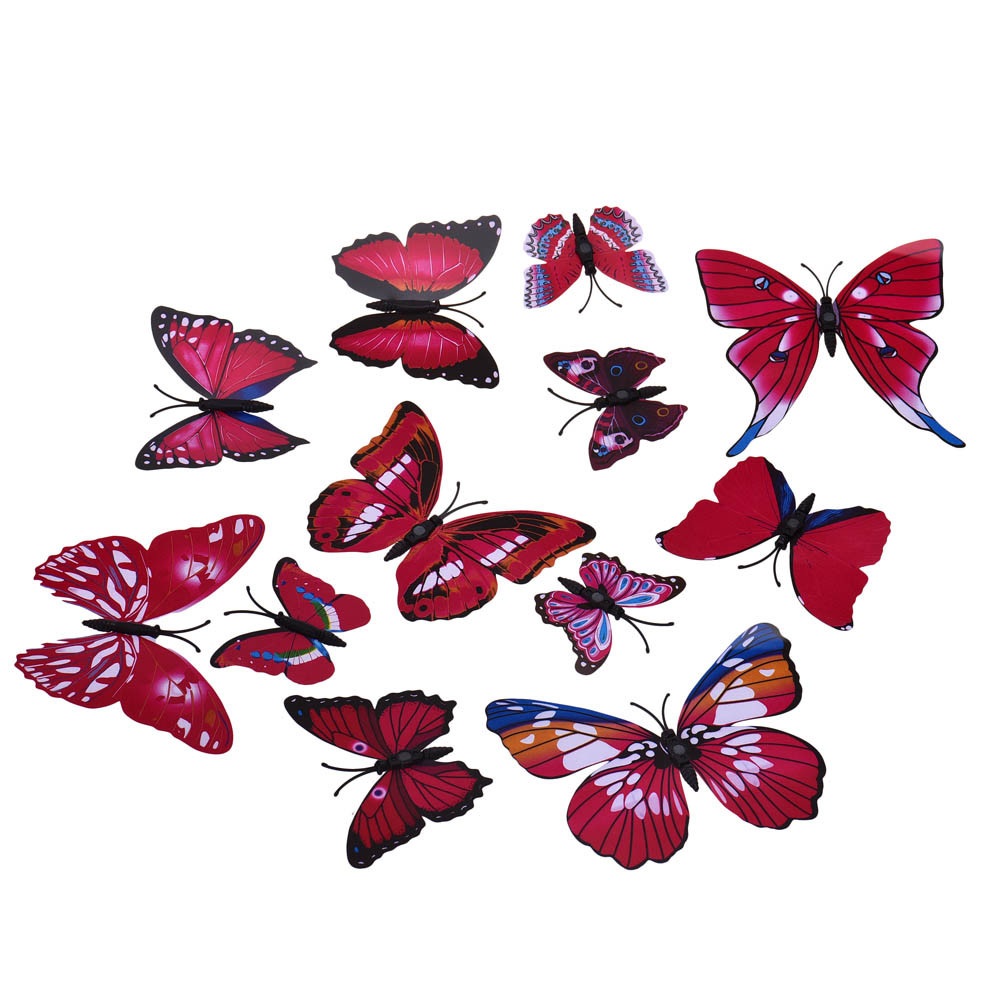 Decal Wall Stickers Home Decor Room Decorations 3D Butterfly High Quality  On Top Selling New Arrival Hot Dsigned Branded Decor