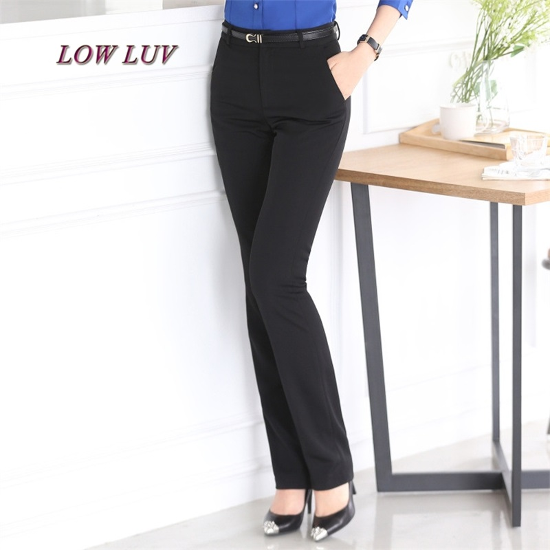 Ms. casual trousers temperament Ms. casual pants suit pants solid color