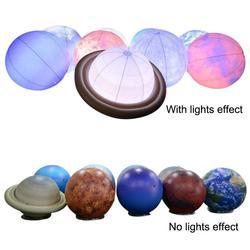 Iluminación inflable planetas Sistema Solar nueve planetas sol Luna globos para niños juguetes de Aprendizaje Temprano educación