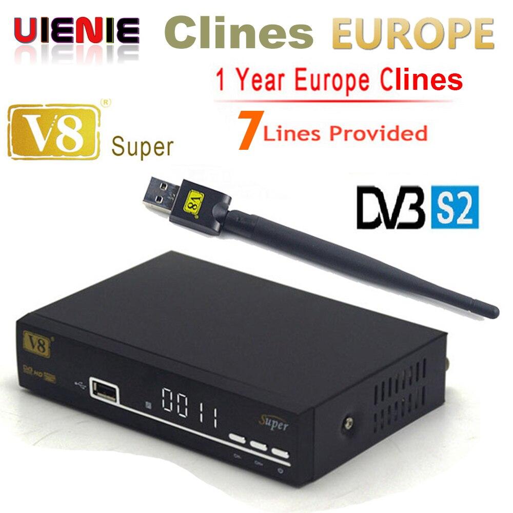 Best buy ) }}Hot GT Media V8 Super DVB-S2 FreeSat Satellite Receiver+1 Year Europe Spain Cccam 7