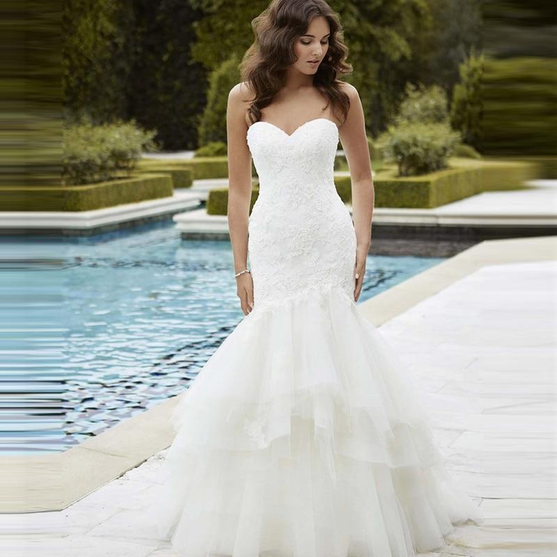 Arabic 2017 New Arrival Sweetheart Mermaid Wedding Dresses