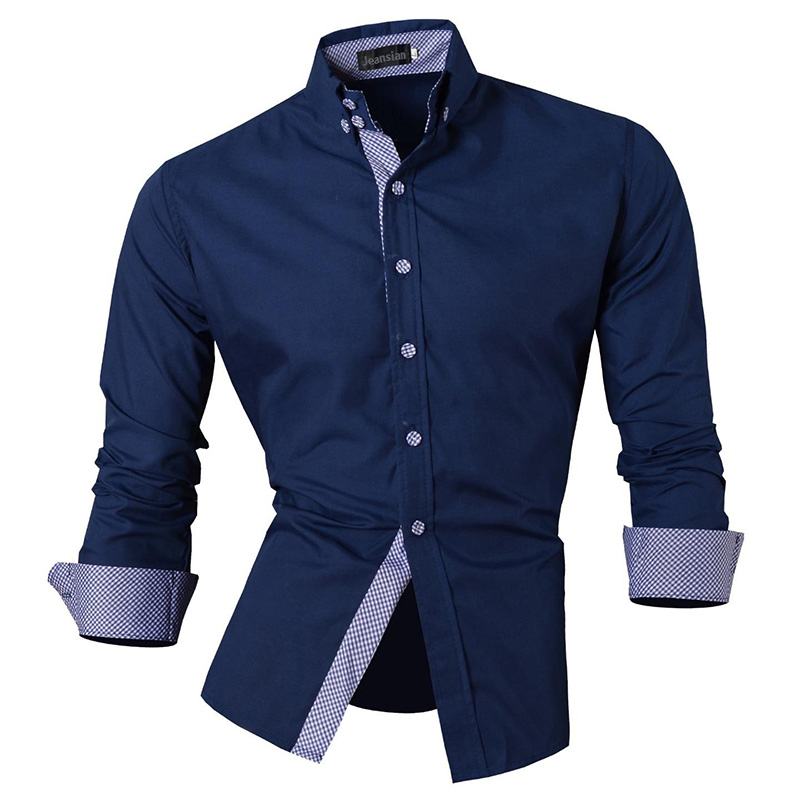 2016 casual shirt famous brand shirt men long sleeve dress for Mens casual shirts brands