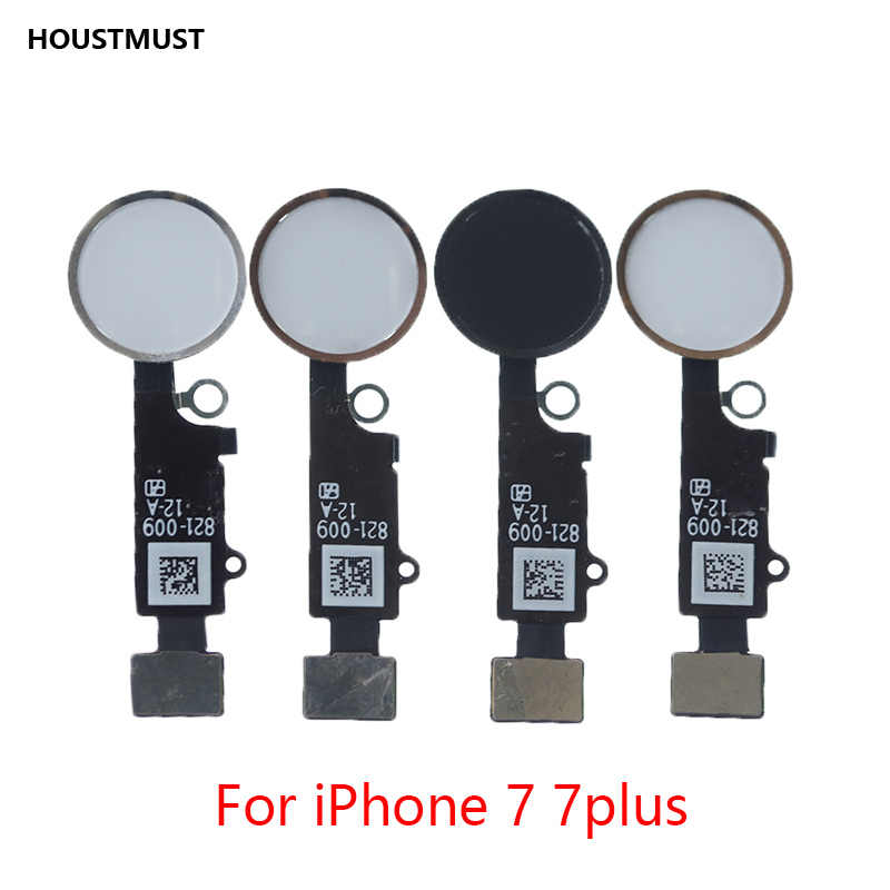 HOUSTMUST 1 pcs ปุ่ม Home Flex Cable สำหรับ iPhone 5 5C 5 S 6 6 Plus 6 s plus 7 7 Plus Home button Flex Assembly