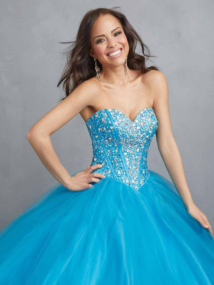 Sweetheart Style Ball Gowns Sweep Train Coral Blue Organza Any Color ...