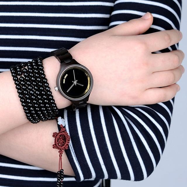 Бобо птица lp16 модные Часы Для женщин Лесоматериалы Топ Роскошные часы Дерево черный женский курантах как леди Интимные аксессуары ювелирные изделия