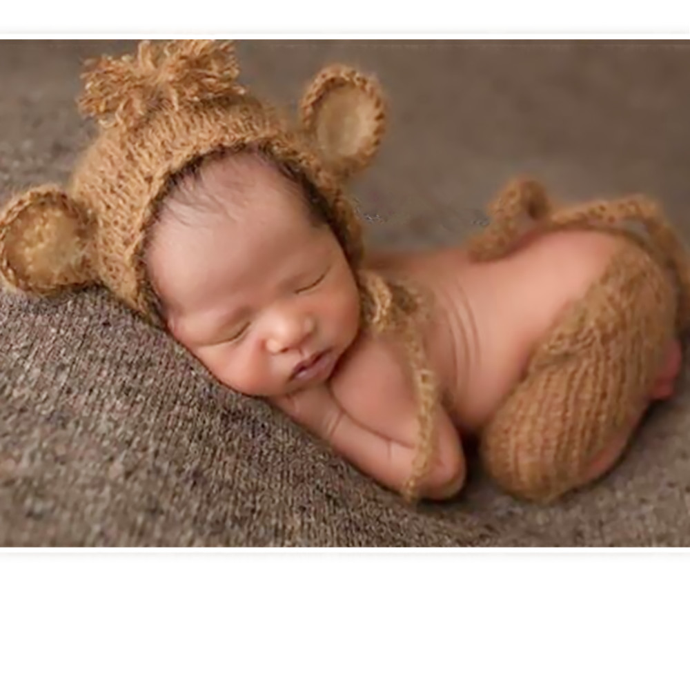 1684e79ae13 Baby boy lion bonnet with Toy set Handmade knitted Baby lion hat matching  toy Newborn photography props