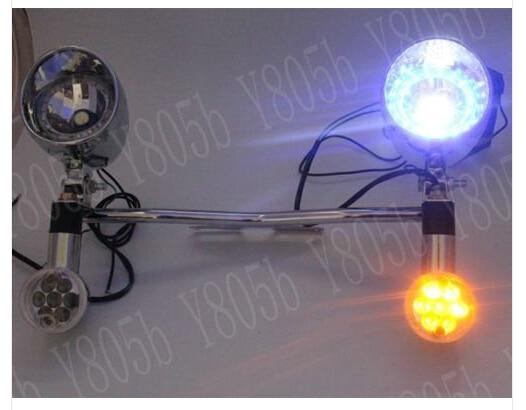 Black Motorcycle Light Bar For Honda Shadow Ace Phantom VLX VT 700 750 1100