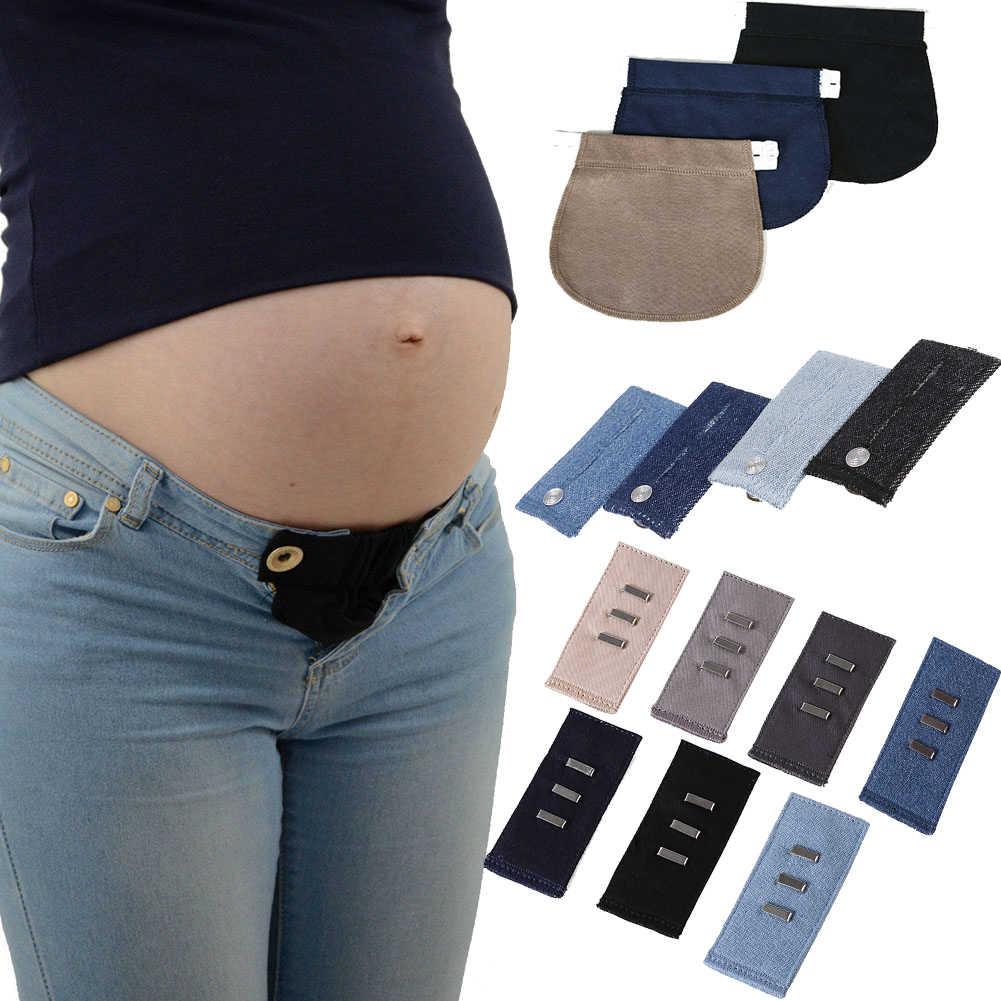 342d1e0eb Maternidad embarazo cintura cinturón ajustable elástico cintura extensor  ropa pantalones para embarazadas
