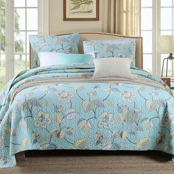 100% coton couvre-lits Floral Super doux matelassé couvre-lit ensemble Patchwork couvre-lit reine taille 3 pièces